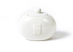 HAPPY EVERYTHING WHITE SMALL DOT BIG COOKIE JAR, Happy Everything - A. Dodson's