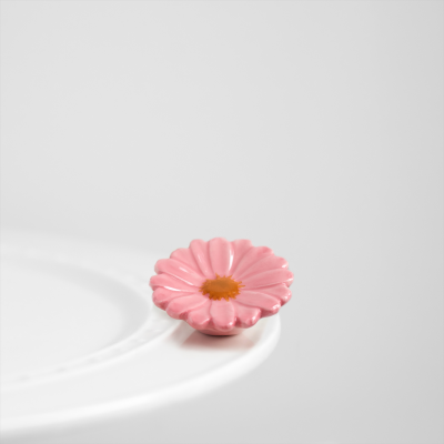 NORA FLEMING FLOWER POWER PINK GERBER DAISY MINI A41