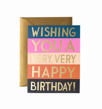 COLOR BLOCK BIRTHDAY CARD, Rifle Paper Co - A. Dodson's