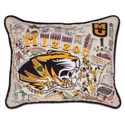 UNIVERSITY OF MISSOURI (MIZZOU) PILLOW BY CATSTUDIO