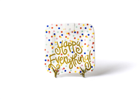 BRAND NEW!  HAPPY EVERYTHING HAPPY DOT 9.25 MINI PLATTER, Happy Everything - A. Dodson's