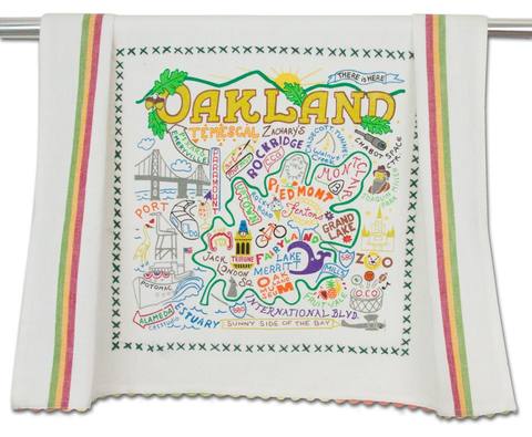 OAKLAND DISH TOWEL BY CATSTUDIO