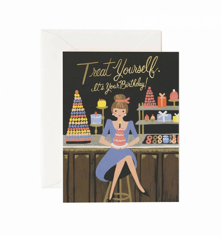 TREAT YOURSELF BIRTHDAY CARD, Rifle Paper Co - A. Dodson's