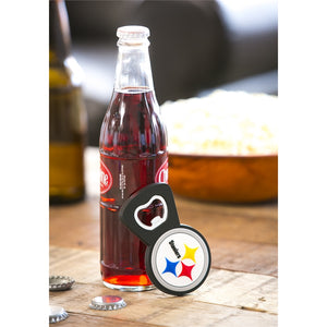 Pittsburgh Steelers, PVC Magnet  Bottle Opener