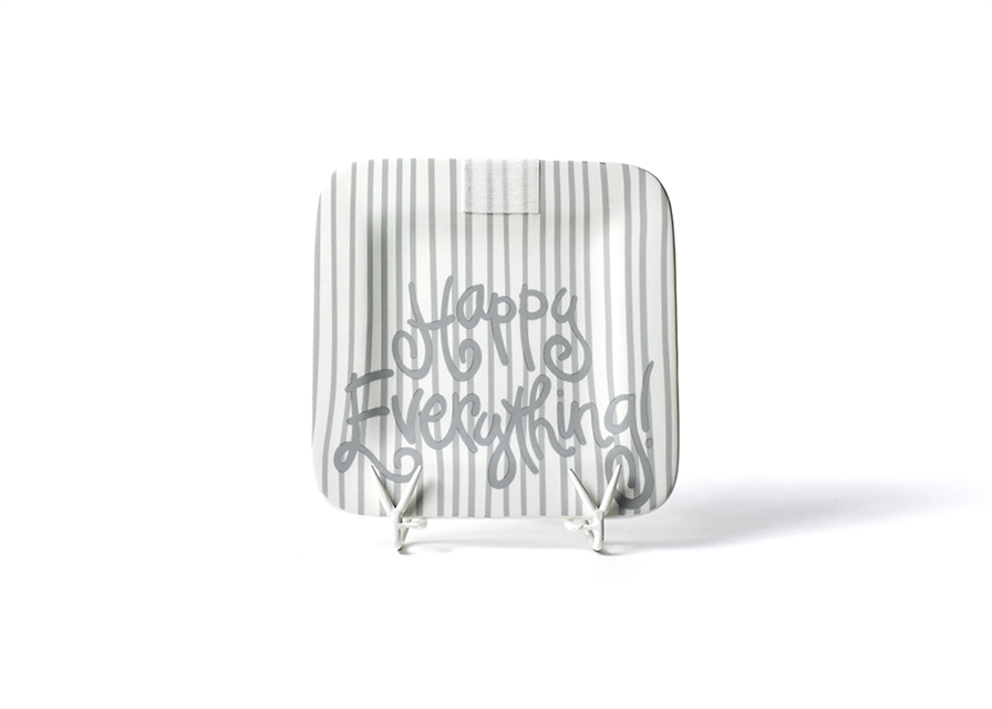 HAPPY EVERYTHING STONE SKINNY STRIPE 9.25 MINI PLATTER, Happy Everything - A. Dodson's