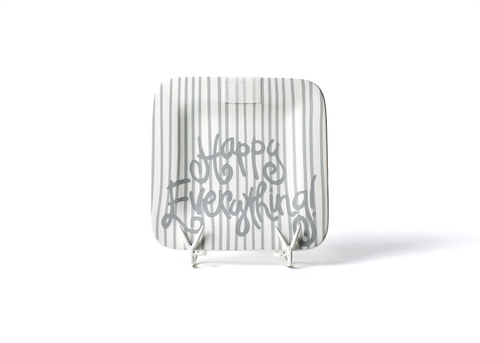 BRAND NEW! HAPPY EVERYTHING STONE SKINNY STRIPE 9.25 MINI PLATTER, Happy Everything - A. Dodson's
