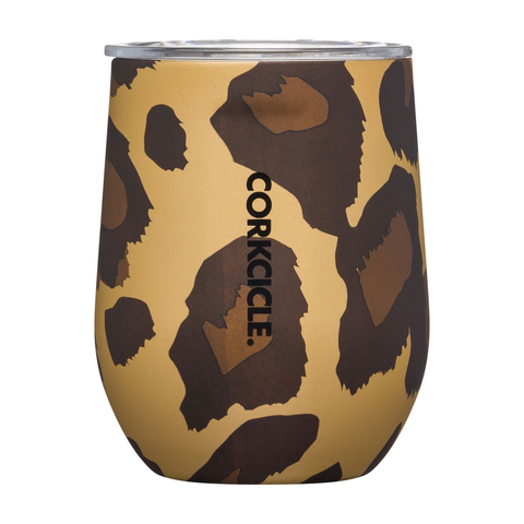 12oz STEMLESS - LUXE LEOPARD, CORKCICLE - A. Dodson's