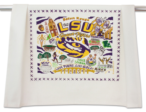 LOUISIANA STATE UNIVERSITY DISH TOWEL Catstudio - A. Dodson's