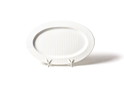 HAPPY EVERYTHING WHITE STRIPE BIG 20 OVAL ENTERTAINING PLATTER