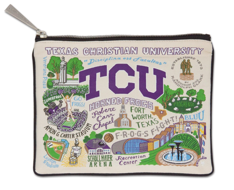 TEXAS CHRISTIAN UNIVERSITY POUCH, Catstudio - A. Dodson's