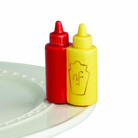 BRAND NEW! NORA FLEMING MAIN SQUEEZE KETCHUP AND MUSTARD MINI A230, Nora Fleming - A. Dodson's