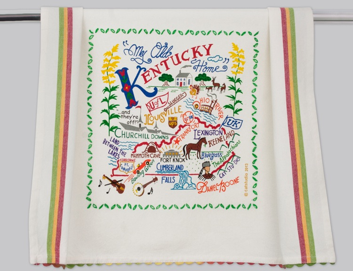 KENTUCKY DISH TOWEL BY CATSTUDIO