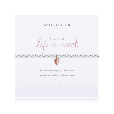 A LITTLE LIFE IS SWEET STRETCH BRACELET, Katie Loxton - A. Dodson's