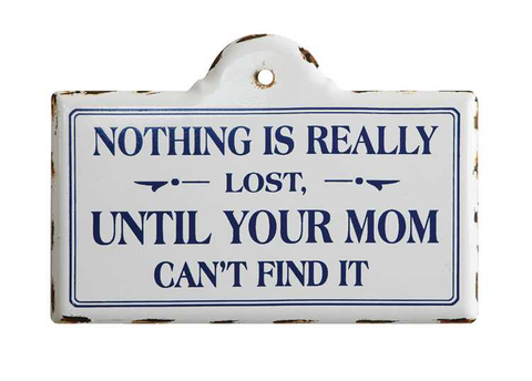 "ENAMELED ""NOTHING IS REALLY LOST"" WALL PLAQUE"