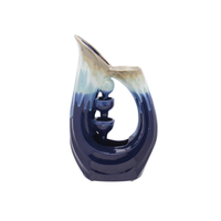 CERAMIC WATER FOUNTAIN - BLUE, Evergreen - A. Dodson's