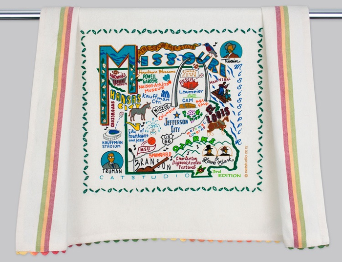MISSOURI DISH TOWEL BY CATSTUDIO