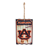 AUBURN UNIVERSITY METAL CORRUGATE ORNAMENT, Evergreen - A. Dodson's
