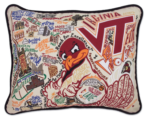 VIRGINIA TECH PILLOW, Catstudio - A. Dodson's