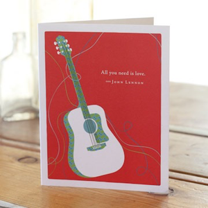 ALL YOU NEED IS LOVE LOVE & FRIENDSHIP CARD, Green Greeting by COMPENDIUM - A. Dodson's