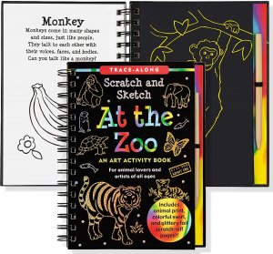 SCRATCH & SKETCH AT THE ZOO TRACE-ALONG