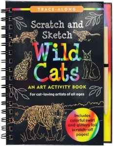 SCRATCH & SKETCH WILD CATS TRACE ALONG
