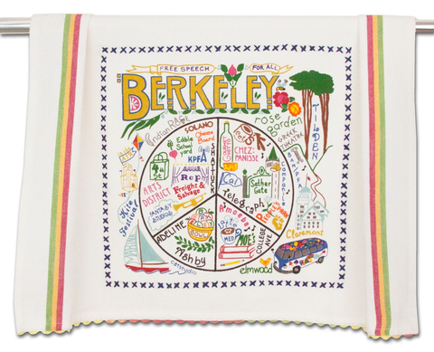 BERKELEY DISH TOWEL BY CATSTUDIO