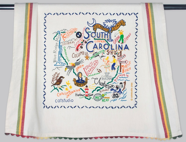 SOUTH CAROLINA DISH TOWEL BY CATSTUDIO, Catstudio - A. Dodson's