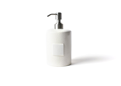 HAPPY EVERYTHING WHITE SMALL DOT MINI CYLINDER SOAP PUMP, Happy Everything - A. Dodson's