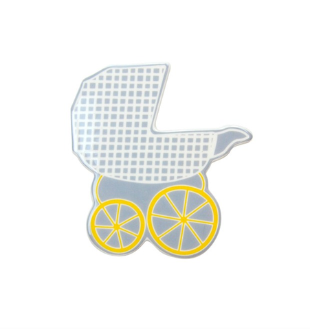 HAPPY EVERYTHING BABY CARRIAGE MINI ATTACHMENT, Happy Everything - A. Dodson's