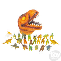 24 PC  DINOSAUR SET WITH T-REX HEAD CASE