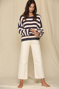 MILA NAVY STRIPED SWEATER