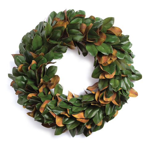 GRAND MAGNOLIA LEAF WREATH 24""