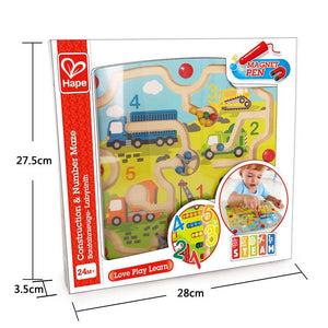 CONSTRUCTION & NUMBER MAZE BY HAPE