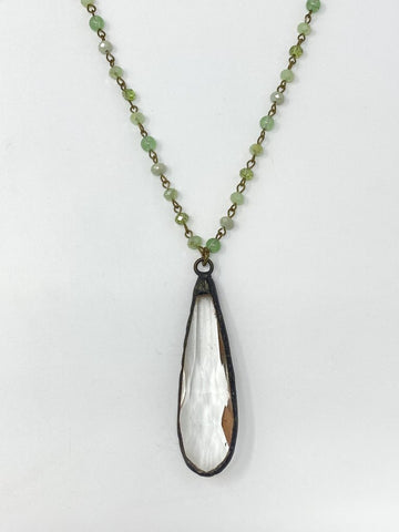 SNOWDROP PISTACHIO NECKLACE