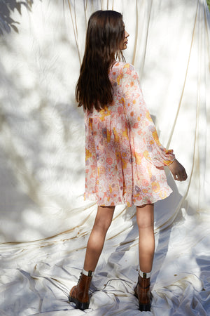 MONROE BUTTON DOWN FLORAL DRESS