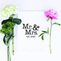 TEA TOWEL: MR & MRS est 2021