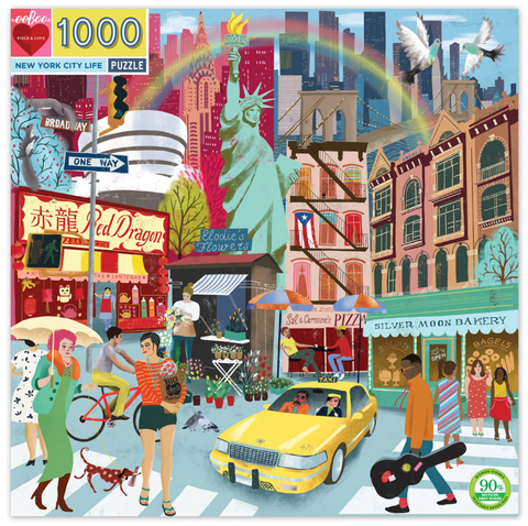 NEW YORK CITY LIFE SQUARE PUZZLE, 1000 PC.