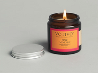 2.8OZ GLASS JAR CANDLE PINK MIMOSA by VOTIVO
