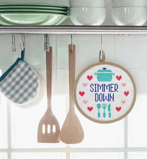 IN STITCHES POTHOLDER - SIMMER DOWN