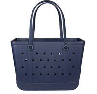 Simply Southern Large Solid Eva Tote Bag in Navy