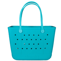 Simply Southern Large Solid Eva Tote Bag in Blue