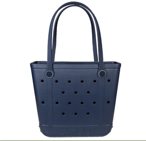 Simply Southern Small Eva Tote Bag in Solid Navy