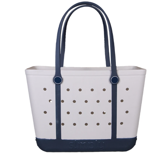 Simply Southern Large Solid Eva Tote Bag in White