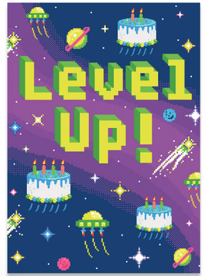 NEON LEVEL UP CARD