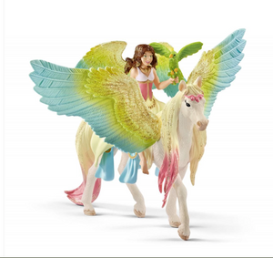 FAIRY SURAH WITH GLITTER PEGASUS BY SCHLEICH