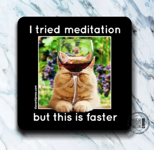CAT MEDITATION COASTER