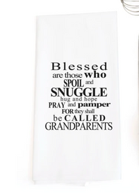 TEA TOWEL: BLESSED... GRANDPARENTS