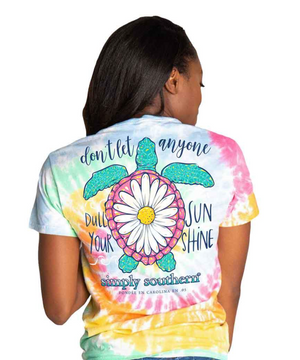 Simply Southern Sunshine Adult Shirt in Classic Tie Dye