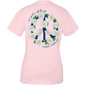 Simply Southern Youth Peace Short Sleeve Shirt in Lulu