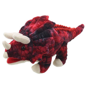 BABY RED TRICERATOPS PUPPET
